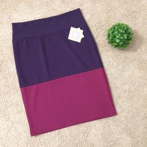 LulaRoe   NWT Cassie Pencil Skirt Purple Pink XL